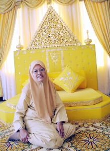 Datin Seri Zubidahtul Radthuan Muhammad Ali Piah sits before the specially constructed dais of her creation. Source: Bernama News