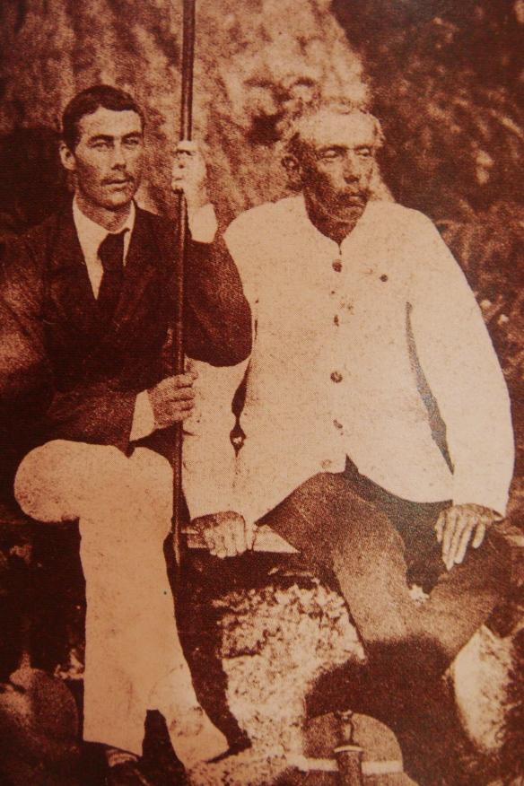 Frank Swettenham & J.W.W. Birch at Belanja, Perak River 1874. Source: Arkib Negara Malaysia