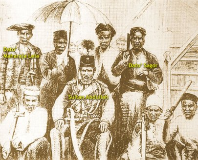 Sultan Abdullah and chiefs