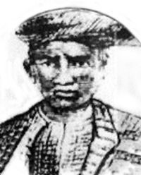 An artist's impression of Dato' Maharaja Lela Pandak Lam. (Source: Wikipedia)