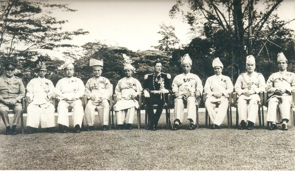 Almarhum Sultan Yusuf Izzudin Shah Perak, seated second from left