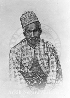 Sultan Yusuf Sharifuddin Muzaffar Shah Ibni Almarhum Sultan Abdullah Muhammad Shah I (1886 - 1887). Source: Arkib Negara Malaysia