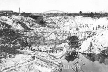 Tin Mining Taiping, circa 1880. Source: Arkib Negara Malaysia