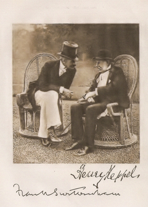 Admiral the Hon. Sir Harry Keppel and Frank Swettenham on a terrace of Government House, singapore, February, 1903