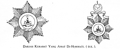 (Source: Buku chenderamata Pertabalan Sultan Idris Shah)