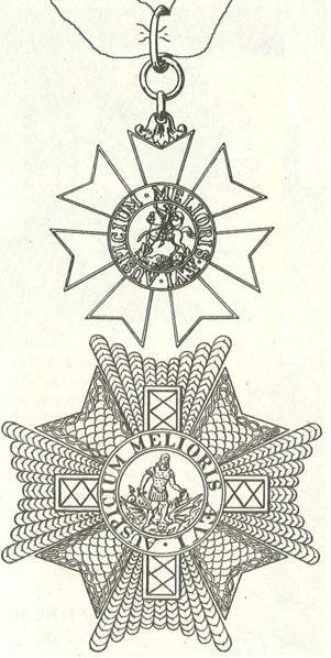 Star and badge of a Knight Commander. (Source: Wikipedia)