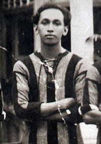 Raja Aman Shah as a teenager, 1921.