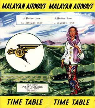 MAL time table 1957