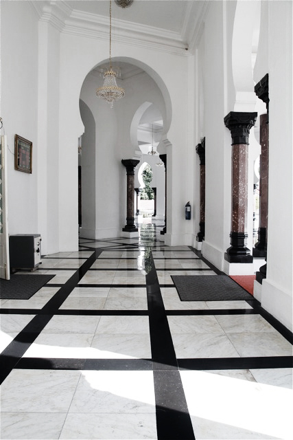 Latest A Tale Of Two Elephants U Masjid Ubudiah With Black And White Marble  Floor.